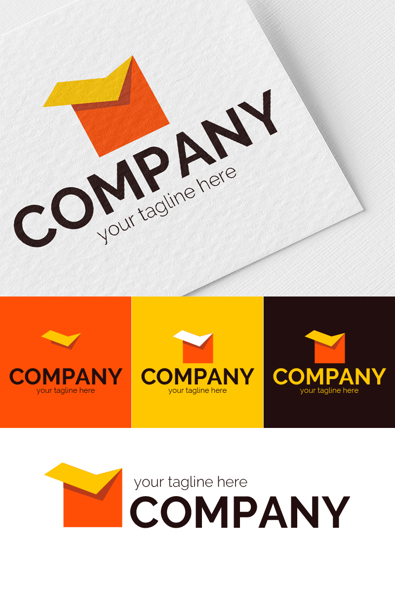Production of Cardboard Boxes Logo Template