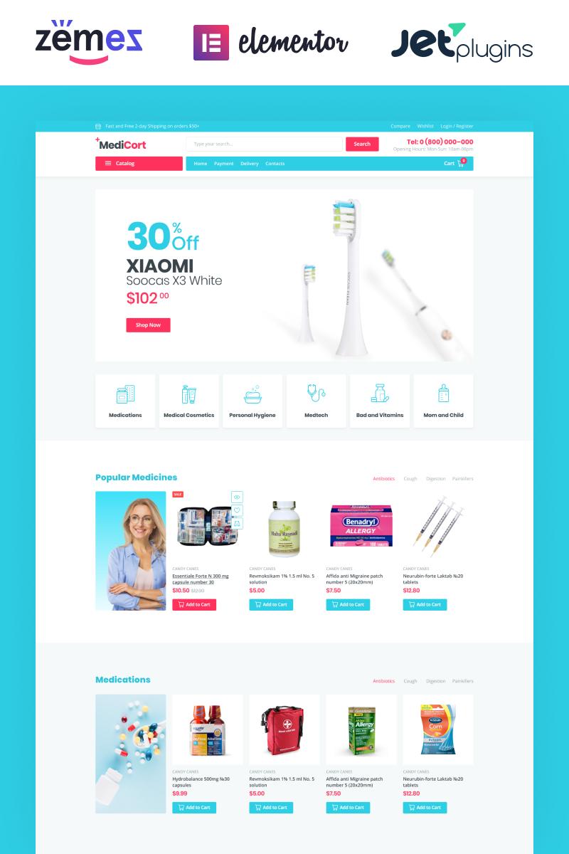 Responsivt MediCort - Medical ECommerce Classic Elementor WooCommerce-tema #85001