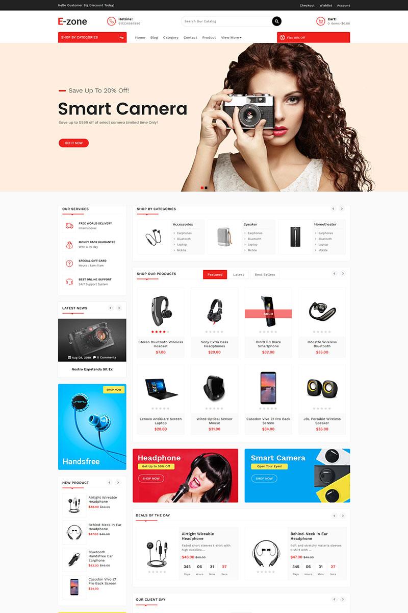 Reszponzív Ezone Electronics Shopify sablon 85054 - képernyőkép
