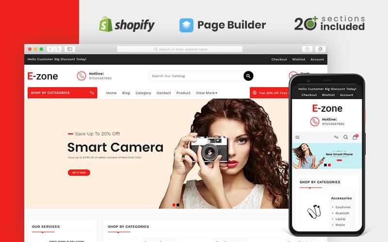"Shopify Theme namens ""Ezone Electronics Store"" #85054"