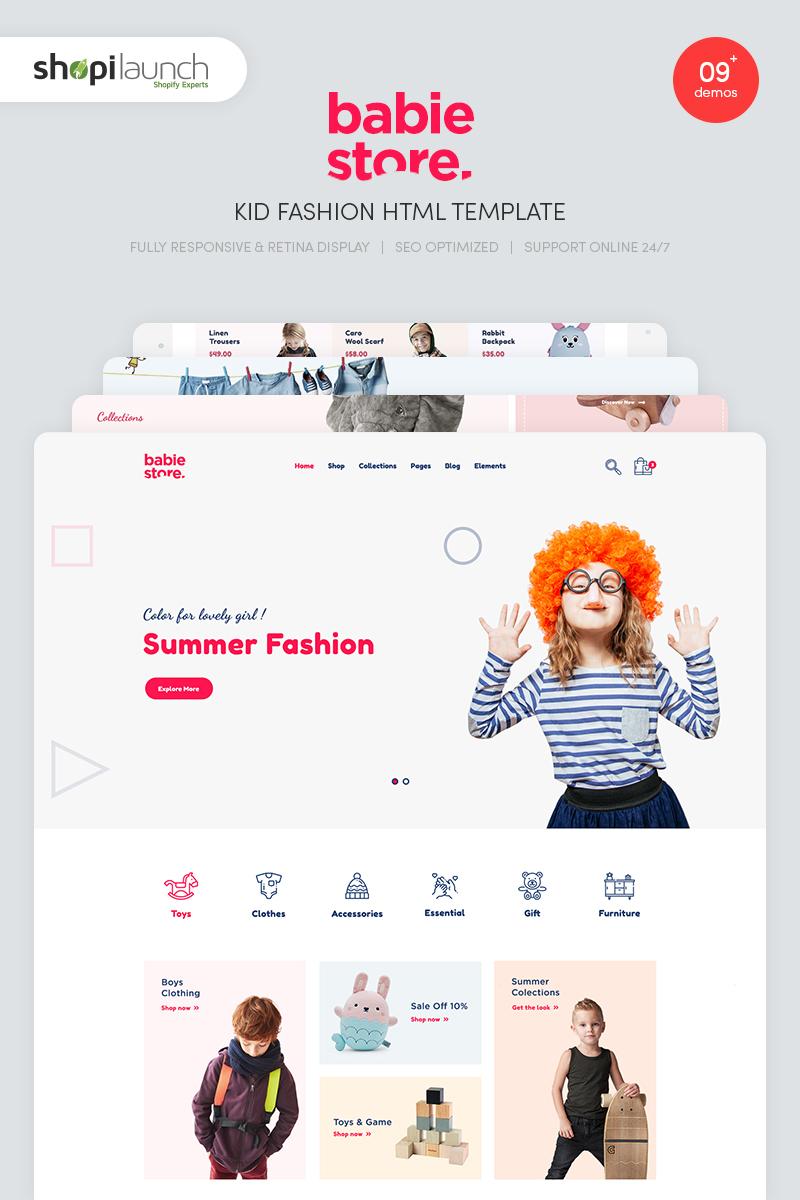 Szablon strony www Babie Store - Kid Fashion #85089