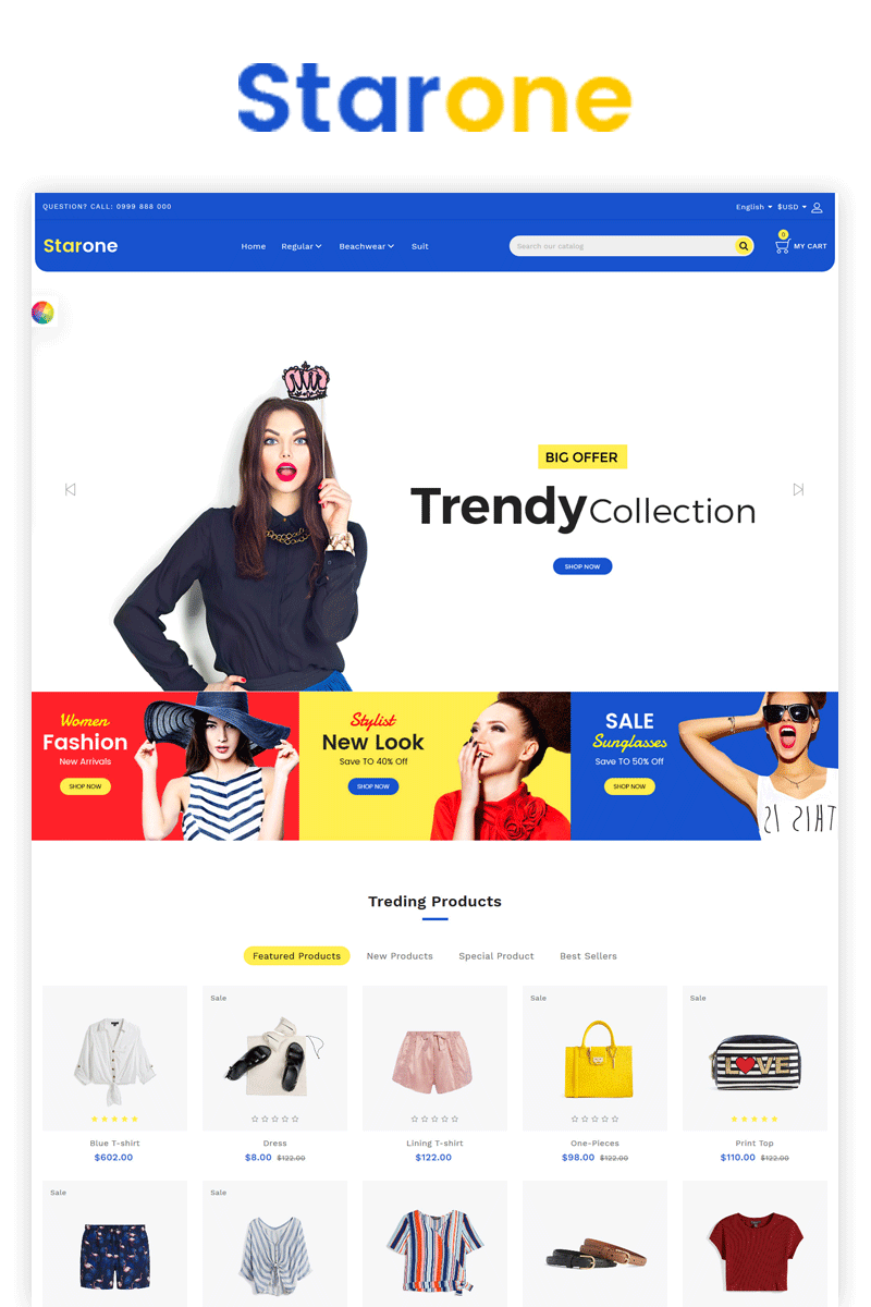 Fashion Starone OpenCart Template