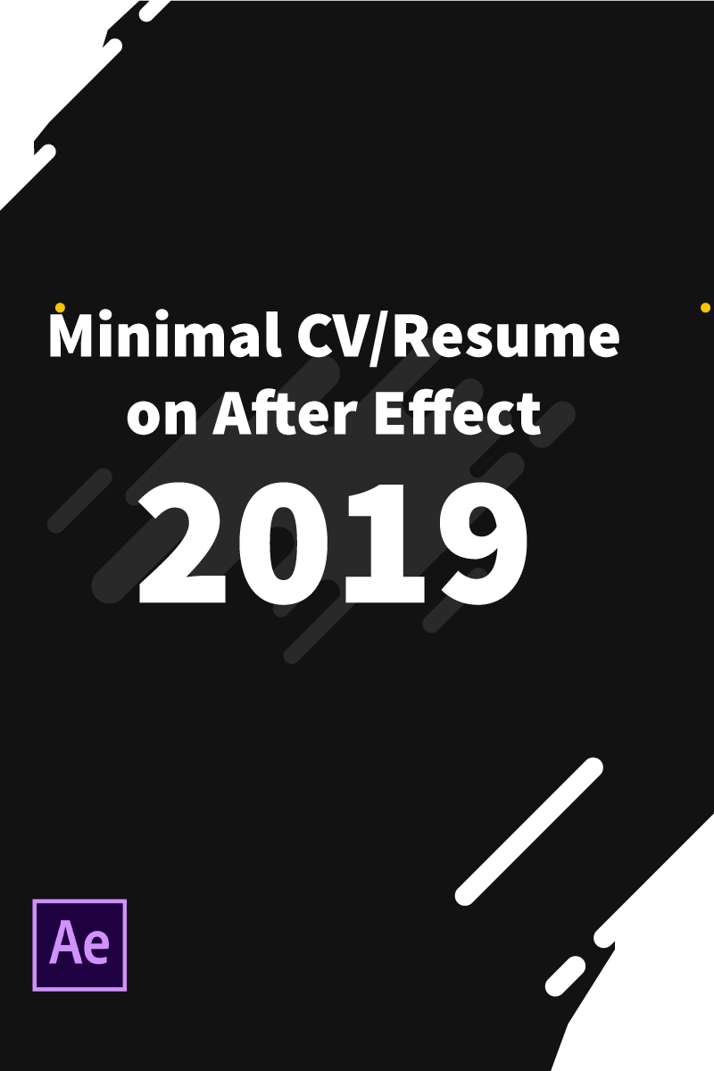 "After Effects Intro namens ""Devil Roy Barman Minimal Resume"" #85134"