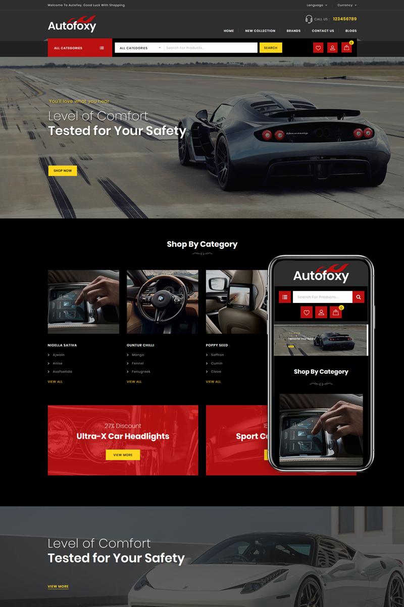 """Autofoxy - Auto Spare Parts Shop"" 响应式OpenCart模板 #85154"