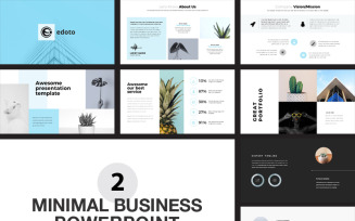 Business Minimal Presentation Pack PowerPoint template