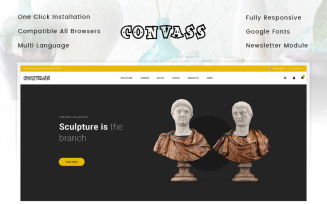 Convass - Art Gallery Store OpenCart Template