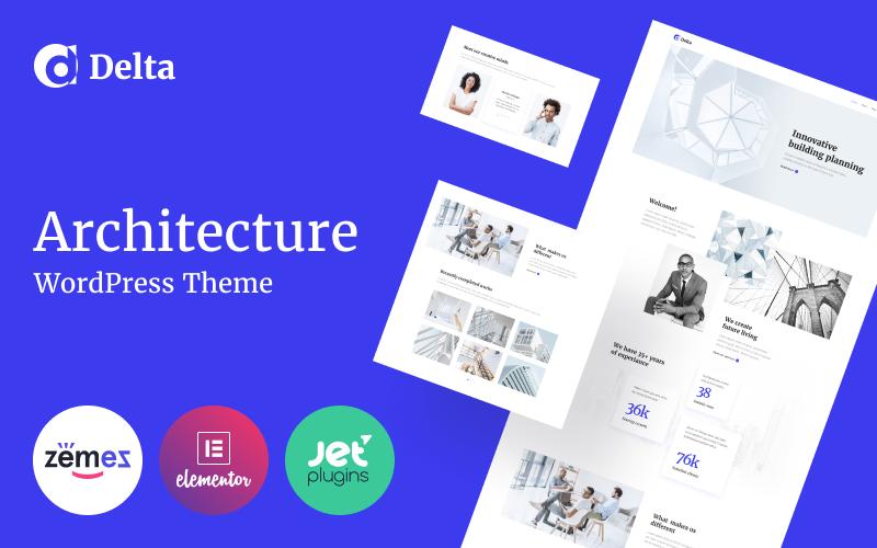 Delta - Architecture Minimal Elementor WordPress Theme - screenshot