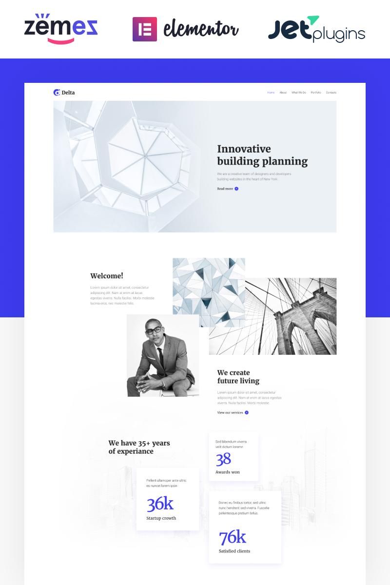 Delta - Architecture Minimal Elementor WordPress Theme