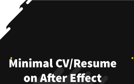 Devil Roy Barman Minimal Resume After Effects Intro After Effects Template