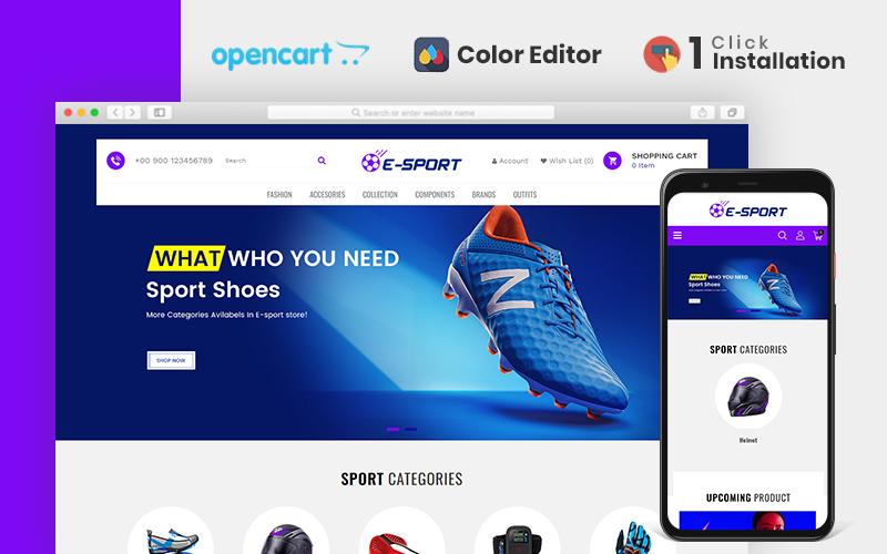 """""""Esport Responsive"""" thème OpenCart adaptatif #85187"""