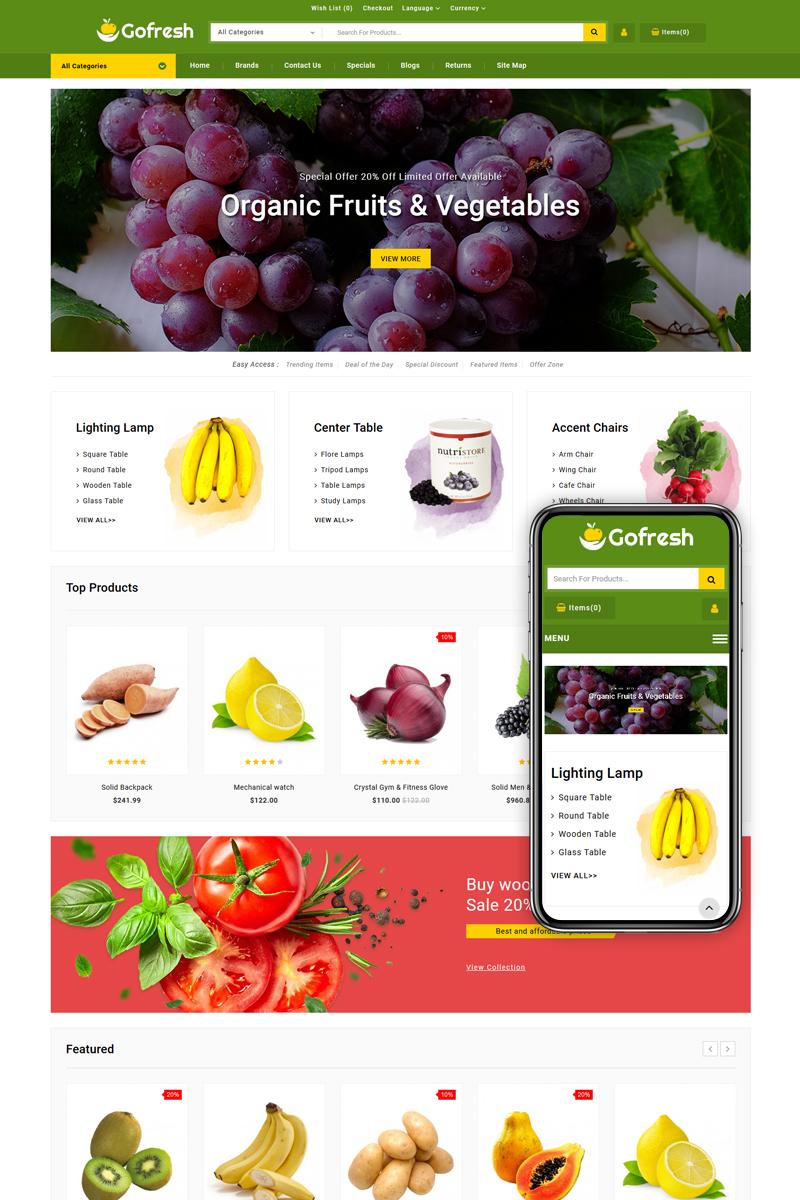 """Gofresh - Grocery Store"" thème OpenCart adaptatif #85124"