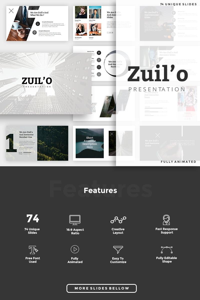 "Keynote Vorlage namens ""Zuil'o - Creative"" #85117 - Screenshot"