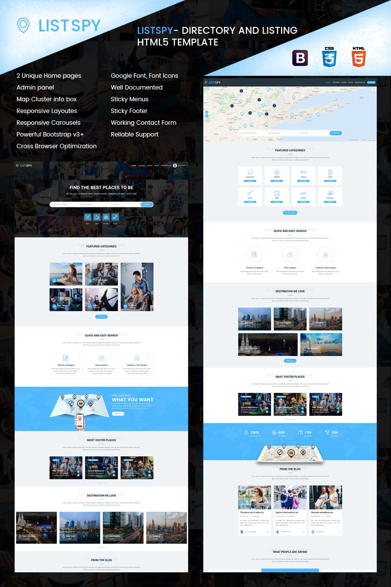 Listspy - Directory & Listings Website Template