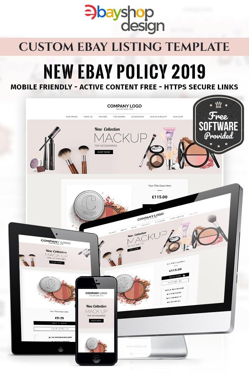 """Modello eBay Responsive #85121 """"Makup Listing Design V1"""" - screenshot"""