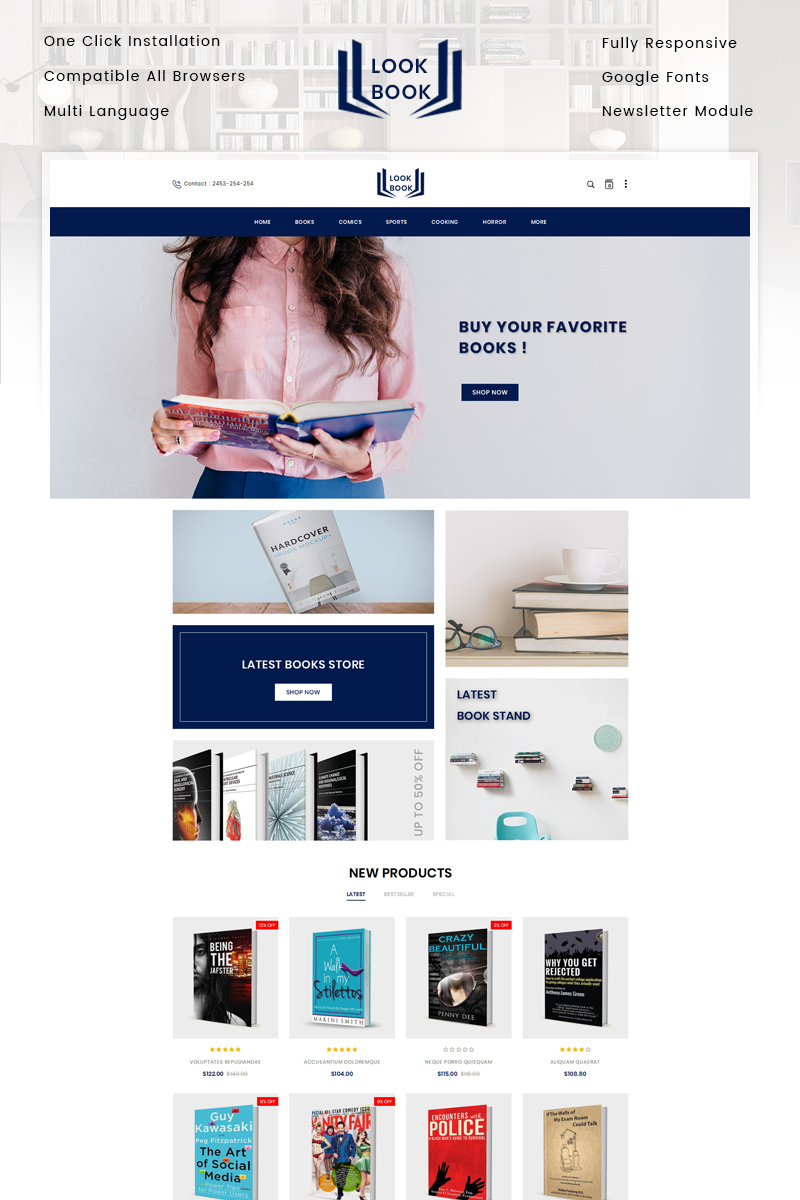 "OpenCart Vorlage namens ""Look Book Store"" #85175 - Screenshot"