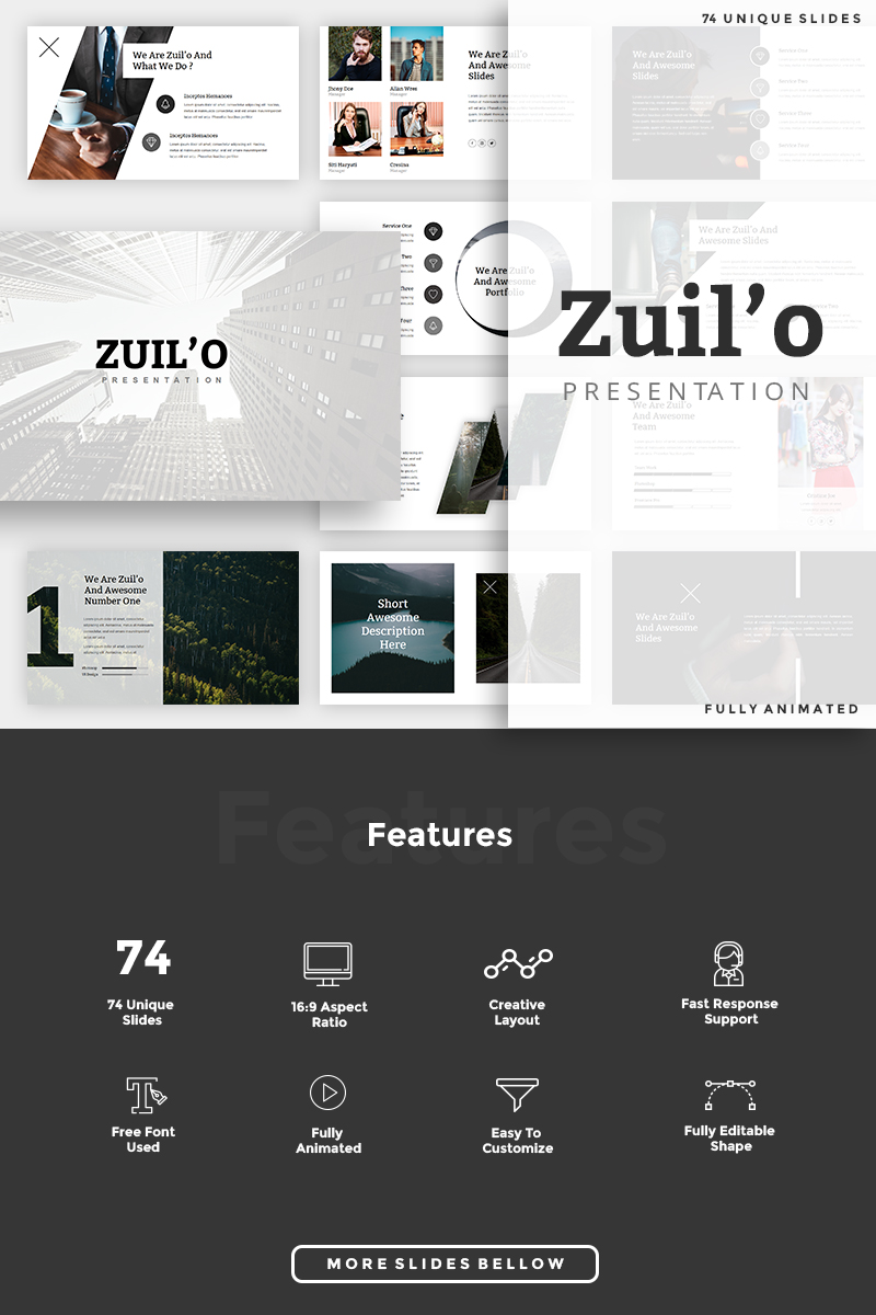 "Plantilla Keynote ""Zuil'o - Creative"" #85117 - captura de pantalla"