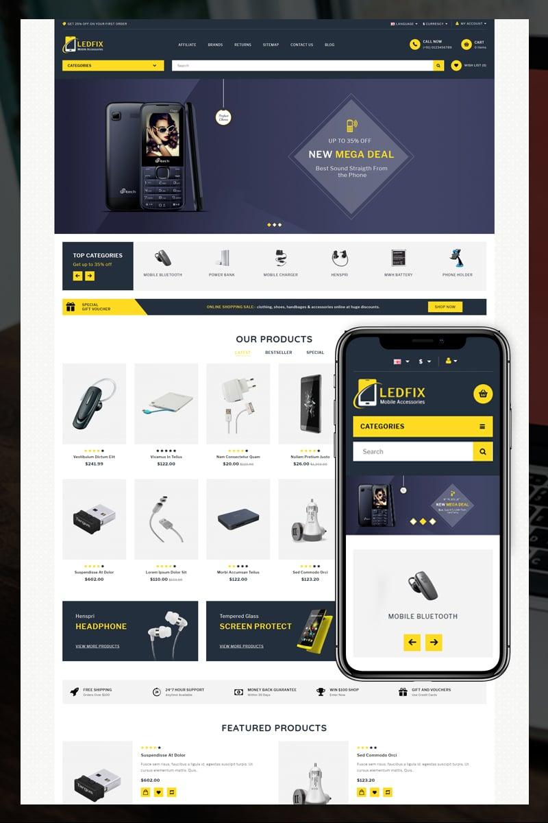 Responsive Ledfix Mobile Store Opencart #85152 - Ekran resmi