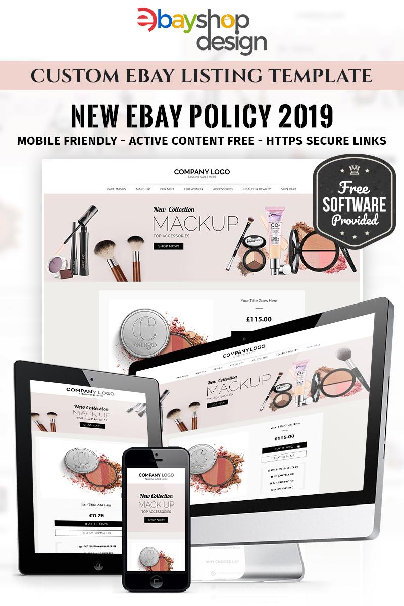 Responsywny szablon eBay Makup Listing Design V1 #85121 - zrzut ekranu
