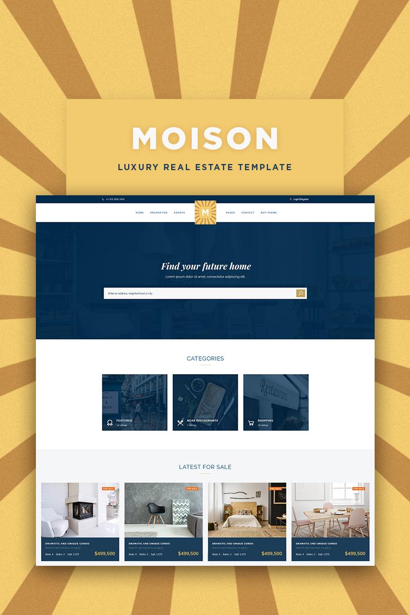 """Responzivní WordPress motiv """"Moison Real Estate Luxury"""" #85170"""