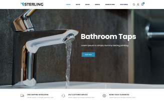 Sterling - Bathroom Accessories WooCommerce Theme