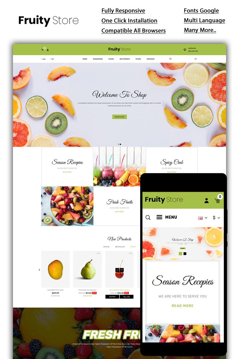 "Tema OpenCart Responsive #85125 ""Fruity - Fruit Store"""
