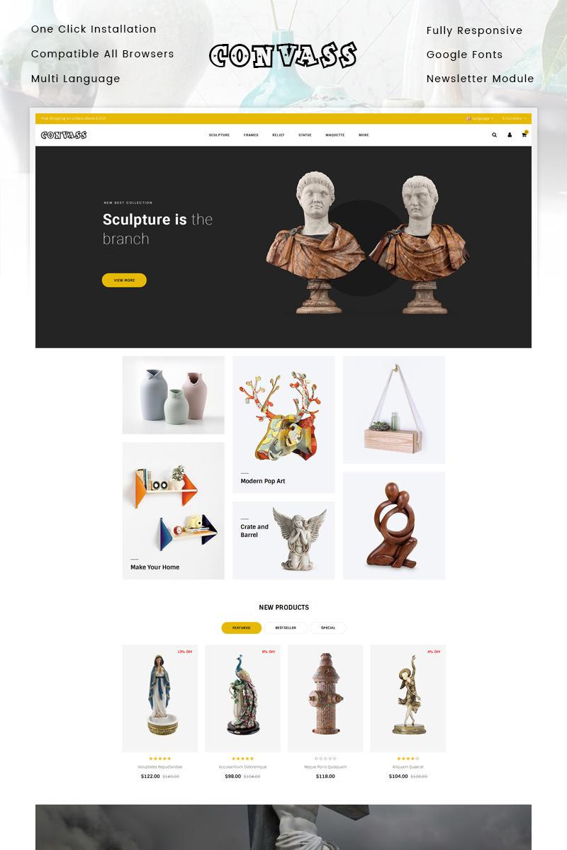 "Template OpenCart Responsive #85174 ""Convass - Art Gallery Store"""