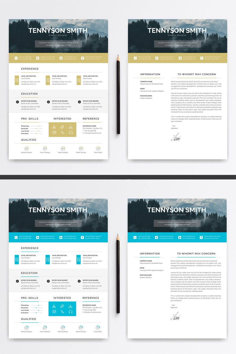 Tennyson Word Resume Template