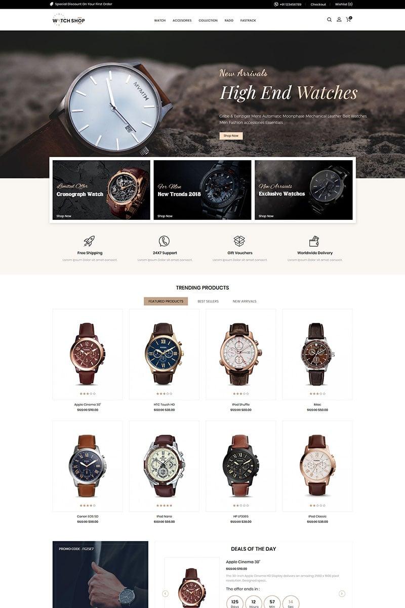 """Watch Store Responsive"" thème OpenCart adaptatif #85153 - screenshot"