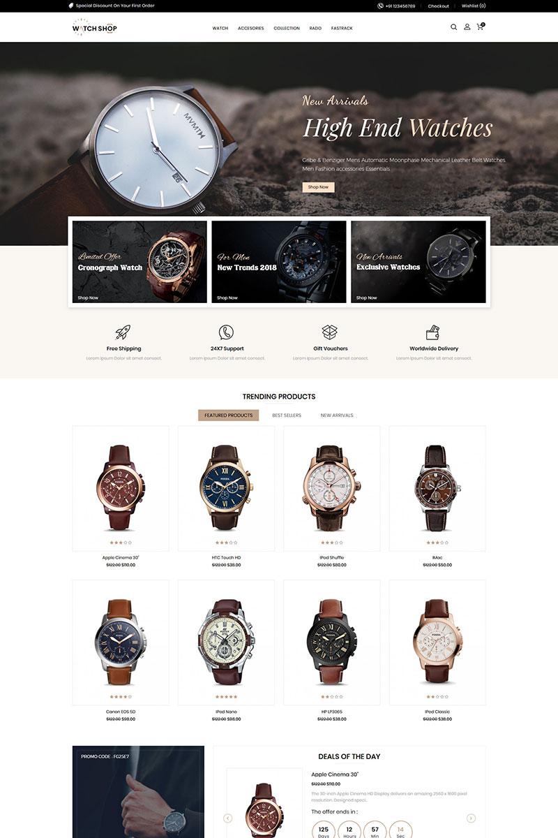"""Watch Store Responsive"" 响应式OpenCart模板 #85153 - 截图"