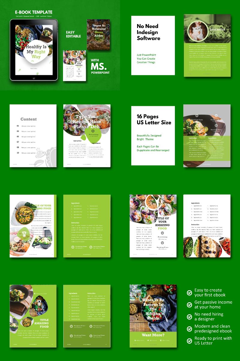 Vegan Recipe Ebook Presentation Powerpoint Template Buy For 18 Id 85215
