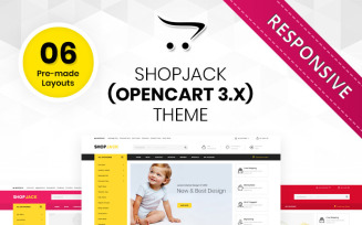 Shopjack - The Mega Multishop Responsive OpenCart Template