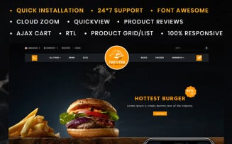 Tostitos Food Store OpenCart Template