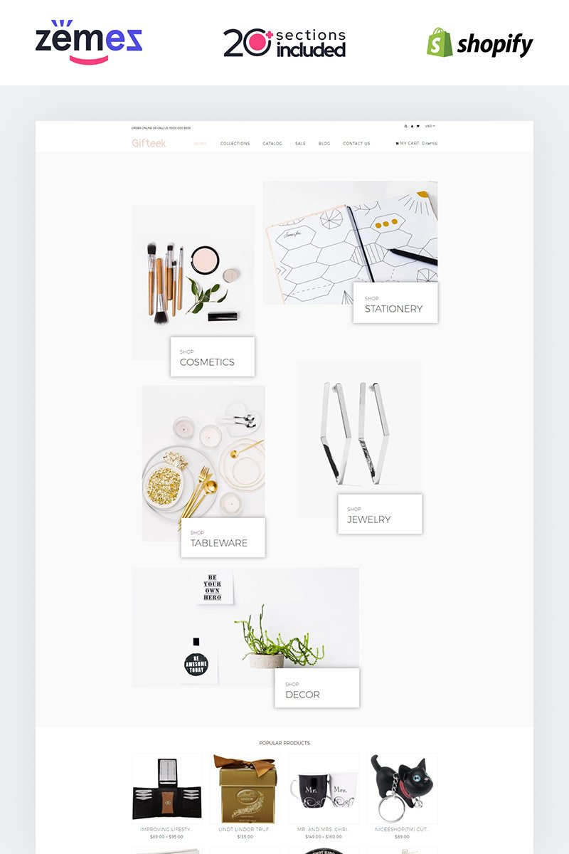 """Gift - Gifts Shop"" Shopify Thema №85226 - screenshot"