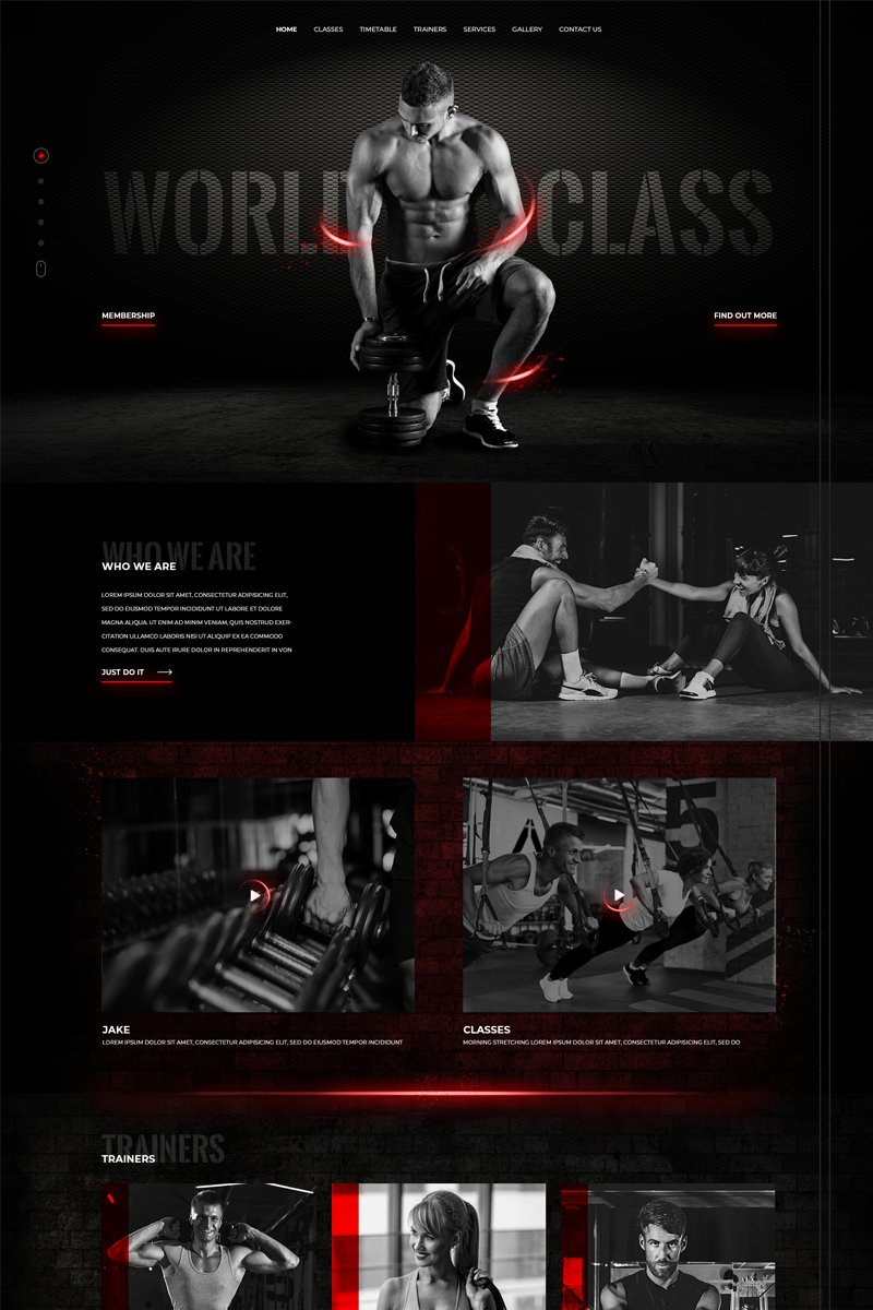 Gym, Sport & Fitness PSD Template