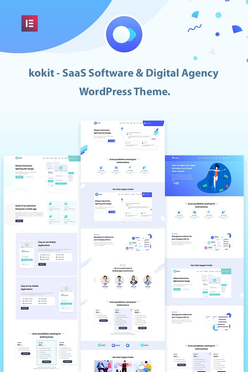 kokit - SaaS Software & Digital Agency WordPress Theme