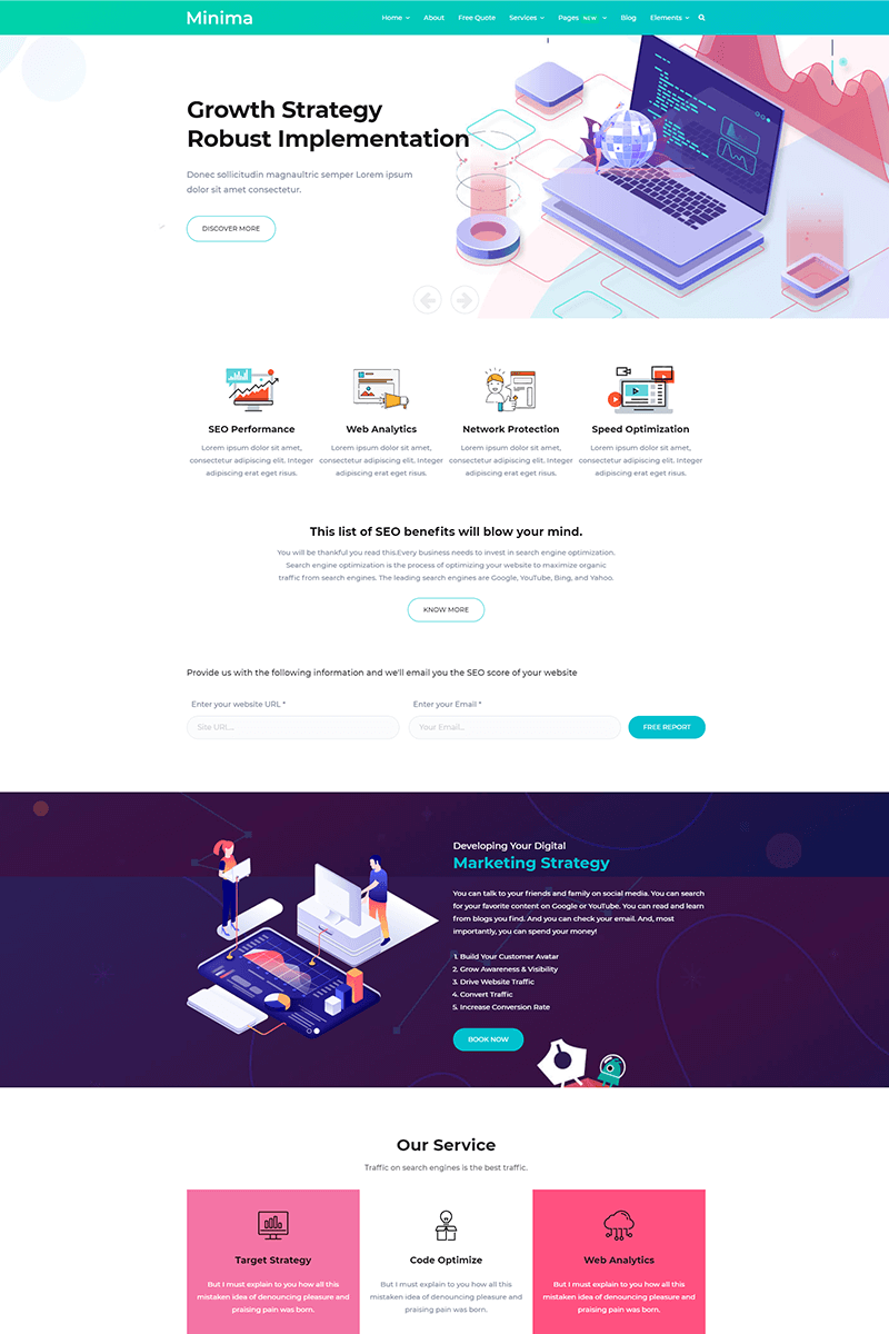Minima - Digital and Online Marketing Joomla Template
