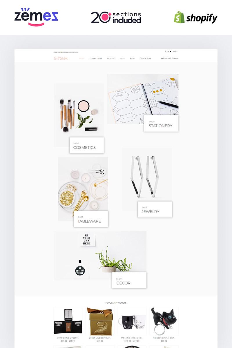 "Modello Shopify #85226 ""Gift - Gifts Shop"" - screenshot"