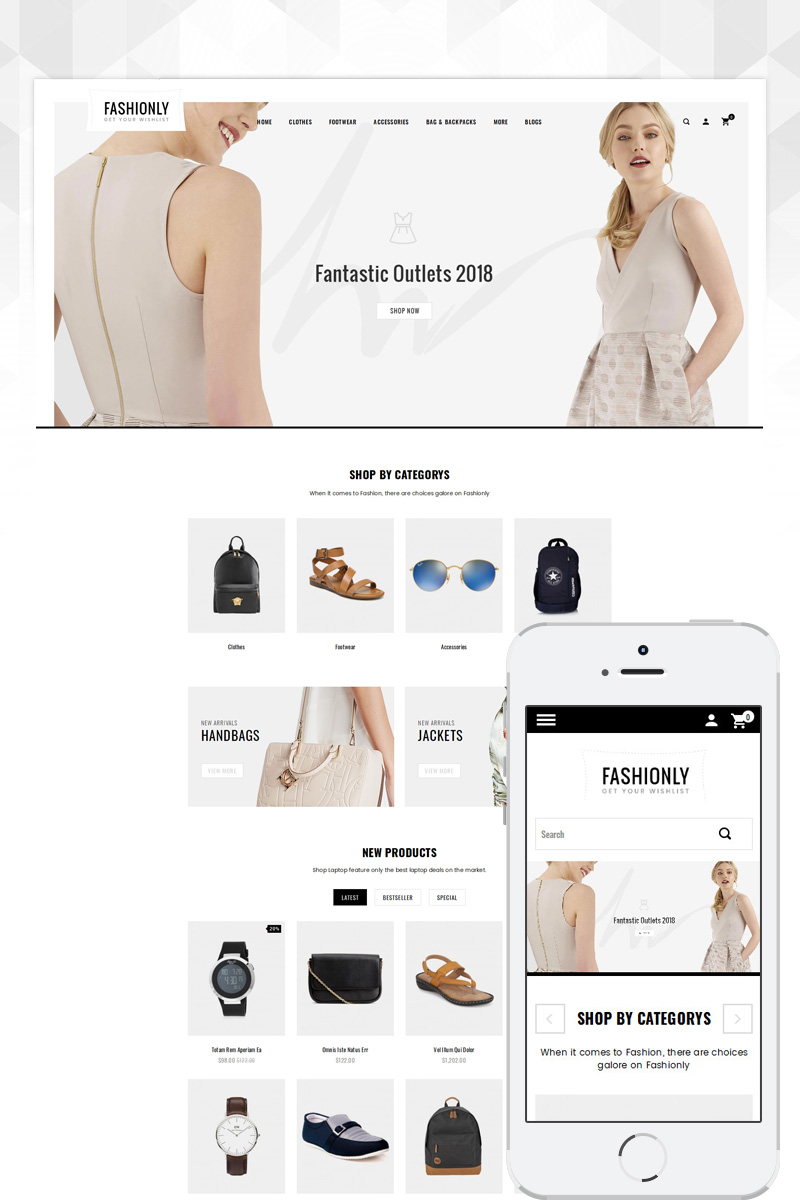 Responsive Fashionly - Accessories Store Opencart #85282