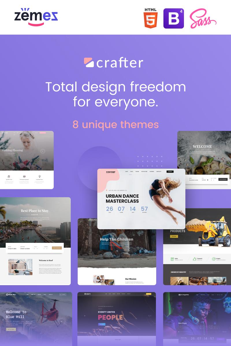 Responsywny szablon strony www Crafter - Multipurpose Modern Bootstrap 4 #85228