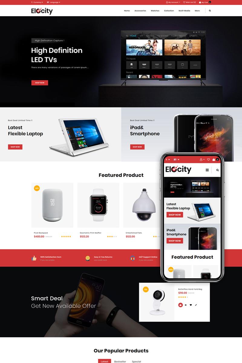 "Responzivní OpenCart šablona ""Elocity - Digital Store"" #85244"