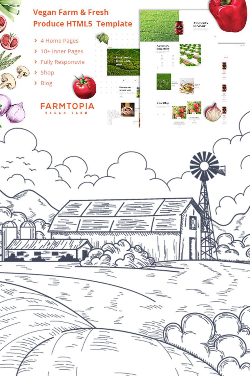 Reszponzív Farmtopia HTML5 Weboldal sablon 85243