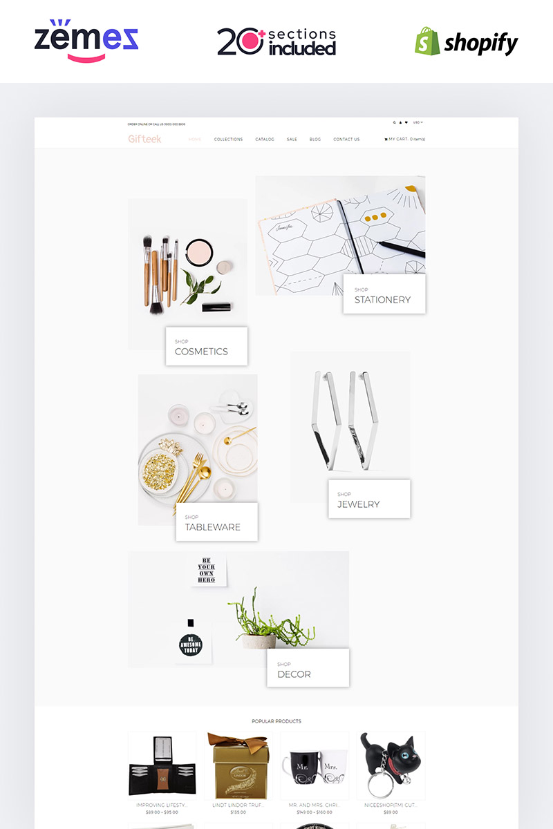 "Shopify Theme namens ""Gift - Gifts Shop"" #85226"