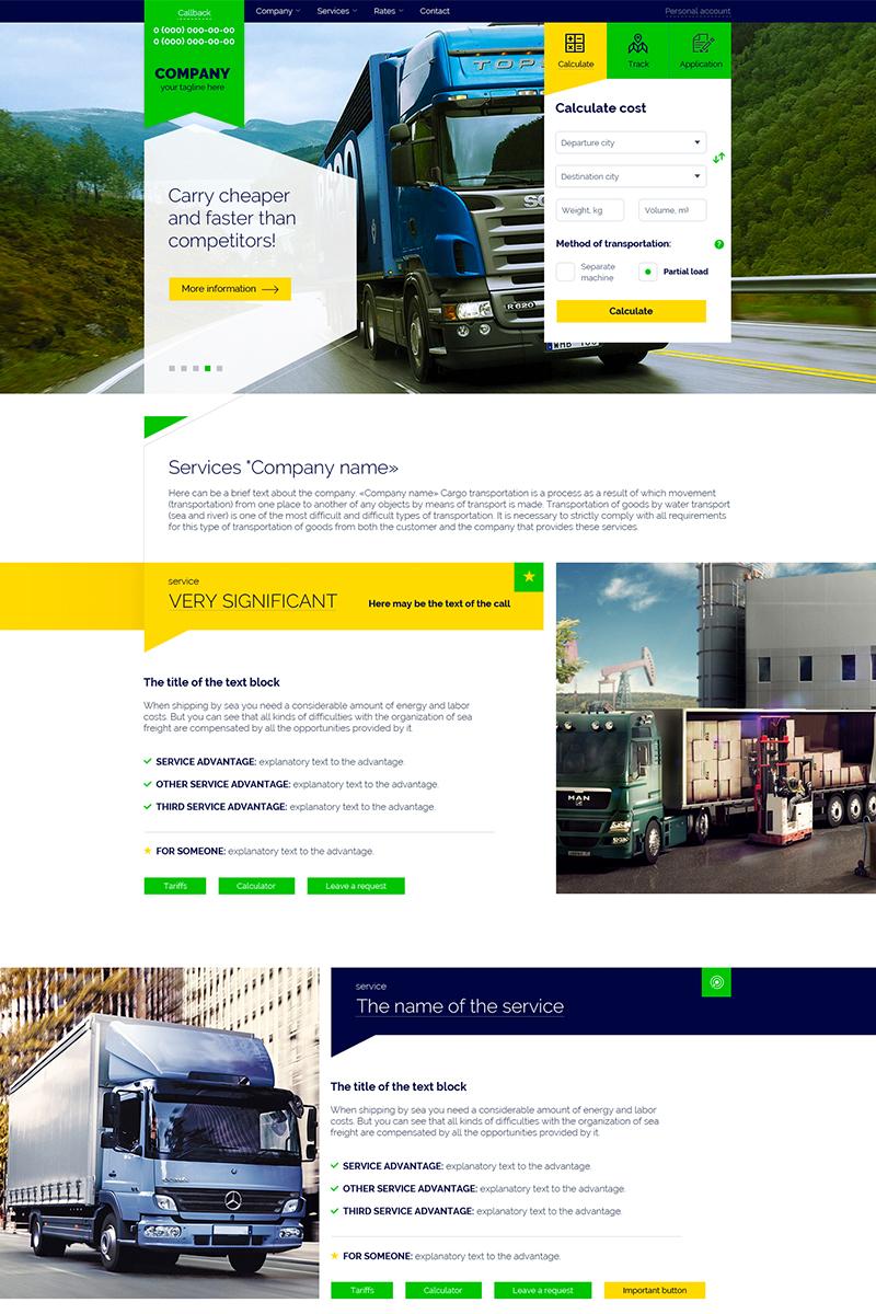 """""""Transportation - Transport Company"""" modèle PSD  #85242"""