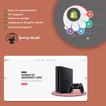 Купить  пофессиональные Shopify шаблоны. Купить шаблон #85320 и создать сайт.