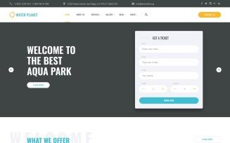 Water Planet - Amusement Park Creative Multipage HTML Website Template