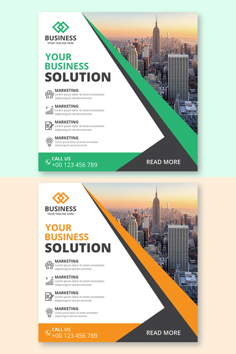 Business Agency Banner Corporate Identity Template