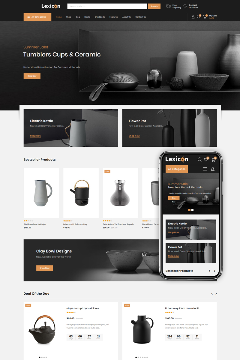 Responsive Lexicon - Art & Gallery Shop Woocommerce #85323
