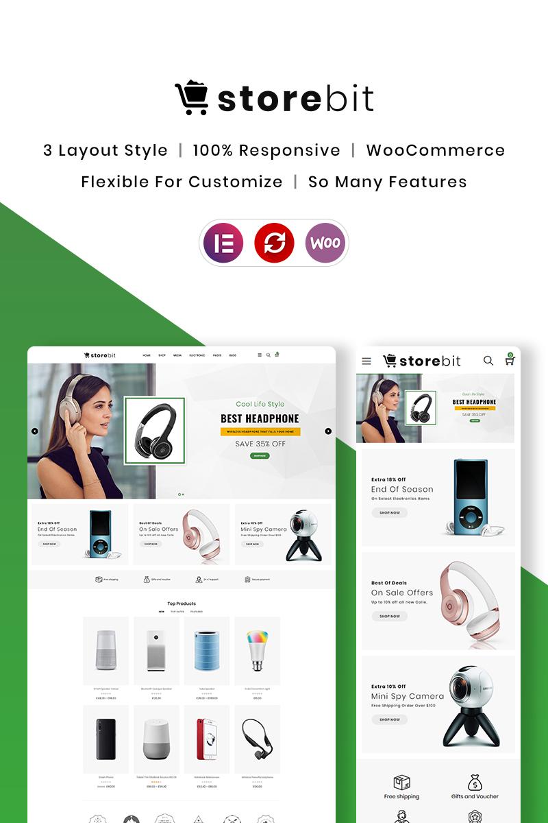 """Storebit - Electronics"" - адаптивний WooCommerce шаблон №85398"