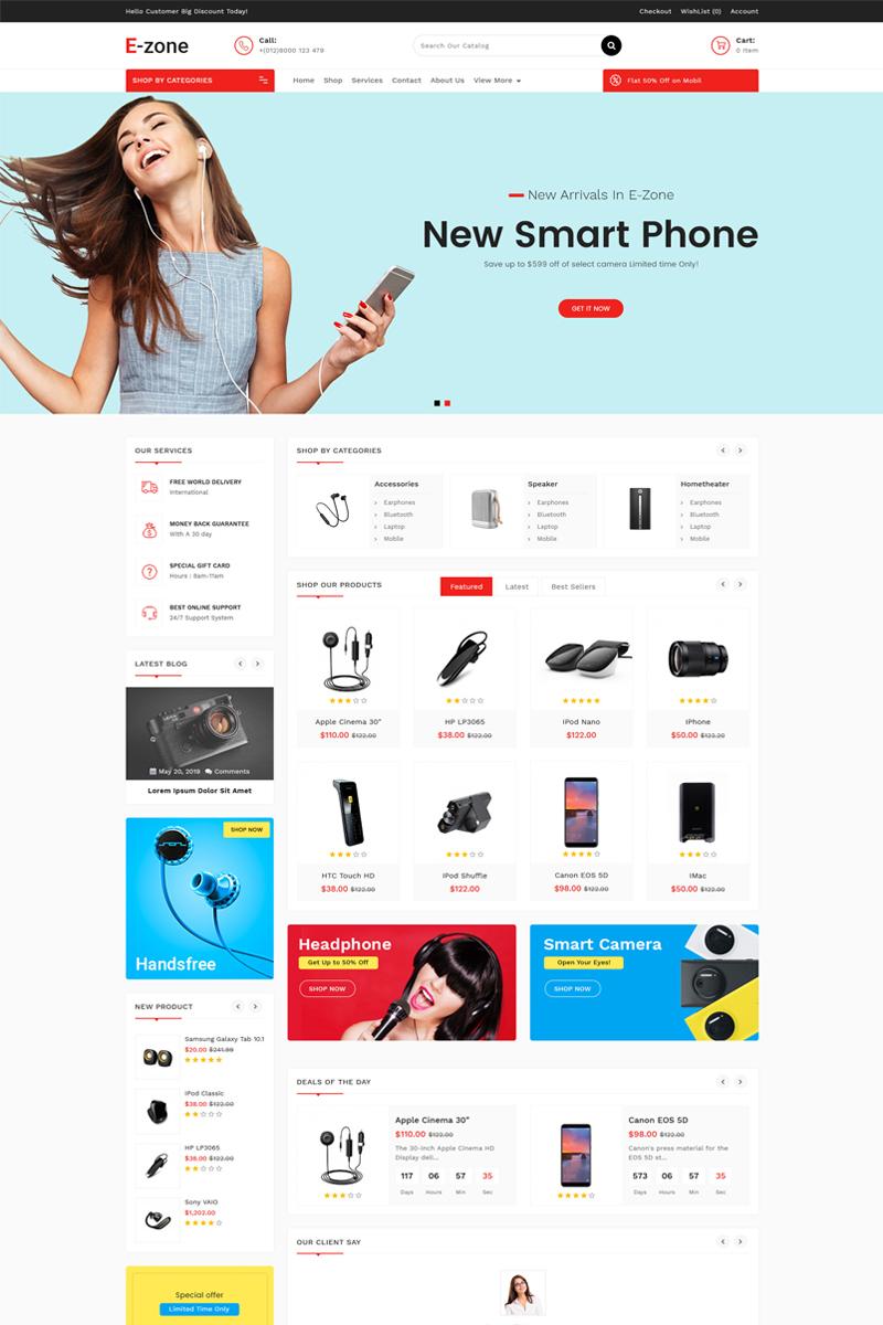 Ezone Electronics OpenCart Template - screenshot