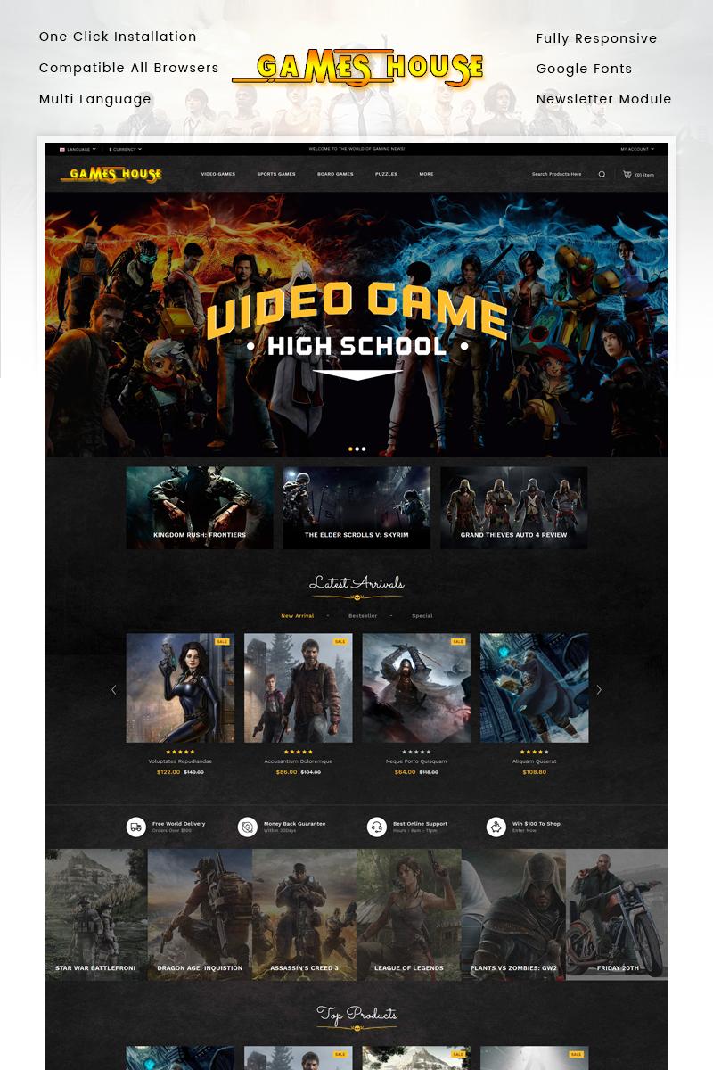 "Plantilla OpenCart ""Video Games Store"" #85465"